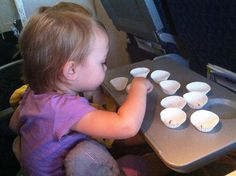Entertaining a toddler on a plane!
