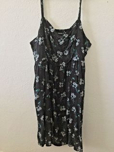 Torrid sz 3 20W Black Floral Maxi Dress Pockets #Torrid #BeachDressEmpireWaistMaxi #Casual