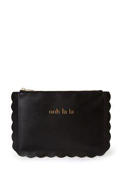 Scalloped Black and Gold ooh la la pouch - $4.90