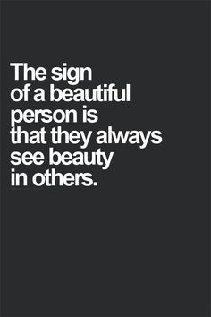 A beautiful person quote