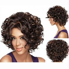 Fashion Sexy Front Wigs Synthetic Hair Glueless Short Curly Lace Front Wigs Hair Curly Wigs For Women HB88