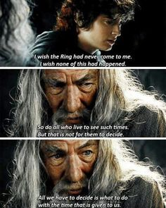 Find images and videos about the hobbit, LOTR and the lord of the rings on We Heart It - the app to get lost in what you love. Lotr Quotes, Tolkien Quotes, Jrr Tolkien, Movie Quotes, Fellowship Of The Ring, Lord Of The Rings, One Does Not Simply, Trans Rights, Movie Facts