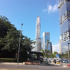 Towers BlueSky CleanStreet Innovation .... The marks of Shenzhen City. A real leading  city in the world.  #shenzhen #tower #bluesky #innovation #futiandistrict #stainlessjewelryvendor