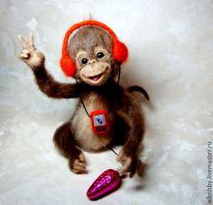 Купить обезьянка Софочка - коричневый, символ года, символ 2016 года, обезьянка, обезьянка игрушка