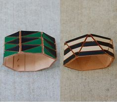 painted leather cuffs by Lauren Manoogian