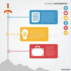 Business & Finance infographic with flat and modern design
