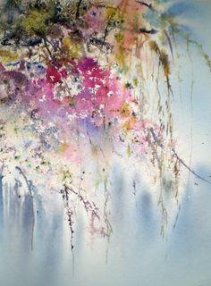 Bougainvillées - Painting ©2010 par Reine-Marie PiNCHON - Peinture