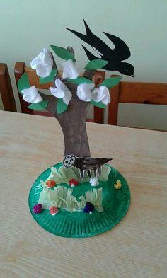 The Spring in kindergarten. Games For Kids, Diy For Kids, Crafts For Kids, Kindergarten Crafts, Preschool Art, Spring Projects, Spring Crafts, Spring Activities, Activities For Kids