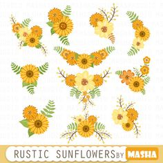Check out this item in my Etsy shop https://www.etsy.com/listing/217707905/floral-bouquet-clipart-sunflower-clipart