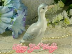 Lovely Vintage Gray Duck Figurine in Porcelain by HappyGalsVintage