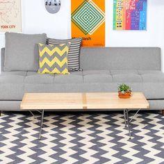 Fab.com | Zig Zag 3x5 Gray