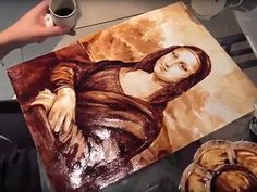 http://UpCycle.Club The Mona Lisa is, to put it mildly, a pretty famous painting. According to People Magazine. Check out UpCycle.Club member; the amazing coffee artist Maria A. Aristidou from Cyprus. #UpCycleClub