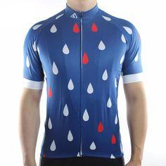 Rain Drops Men's Cycling Jersey