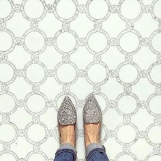 From where I stand in tile heaven.  #tileaddiction #tiles #mosaics #textiles #floorwork #interiordesign #interiordecor #fromwhereistand by pinewoodhomes