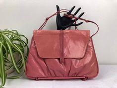 Vintage Arnold Churgin Bubblegum Pink Leather Handbag Vintage Purses, Bubblegum Pink, Crushed Velvet, Bubble Gum, Pink Leather, Vintage Pink, Pink Color, Primary Colors, Leather Handbags