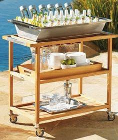 pool side beverage cart