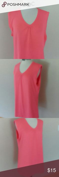 Magellan sleeveless top A great top  by Magellan Outdoors. This top has moisture wicking and comes in a great melon color. Magellan Outdoors Tops Tank Tops