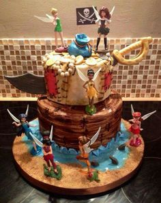 Pirate Fairy Tinkerbell Cake!