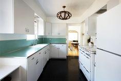 The Brick House 05 #aqua #turquoise #vintage #kitchen