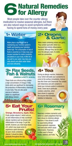 Home Remedies For The Symptoms Of Allergies | Some of the easy treatments for allergies #survivallife www.survivallife.com