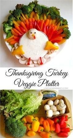 Lindsay Ann Bakes: Thanksgiving Turkey Veggie Platter