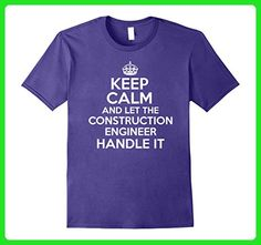 Mens Keep calm and let the CONSTRUCTION ENGINEER handle it 2XL Purple - Careers professions shirts (*Amazon Partner-Link)