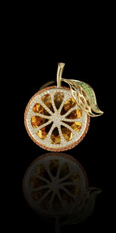 Master Exclusive Jewellery - Collection - Fruits and berries citrine,orante sapphires,diamonds