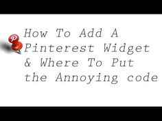Pinterest Widget to Wordpress