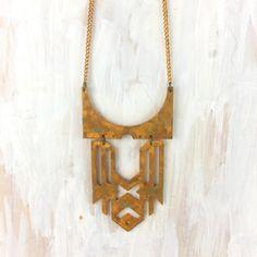 Metalepsis Brass Necklace, d5 | Schatzelein