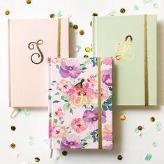 Monogram Journal | Floral Journal Notebook | Monogrammed Bridesmaid Gifts