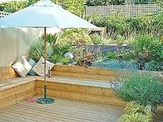 Image result for deck on a steep backyard