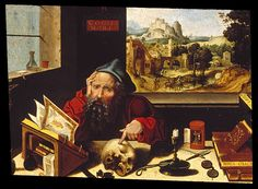 Pieter Coecke van Aelst and workshop (1502–1550)   Saint Jerome in His Study c1530