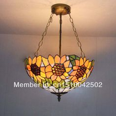 Tiffany glass chandelier in the living room European-style garden restaurant sunflowers bedroom lamp lights DIA 40 CM H 56 CM(China (Mainland)) Sunflower Room, Sunflower Kitchen Decor, Home Fix, Tiffany Glass, Glass Chandelier, Living Room Lighting, Lamp Light, European Style, Decorating Ideas