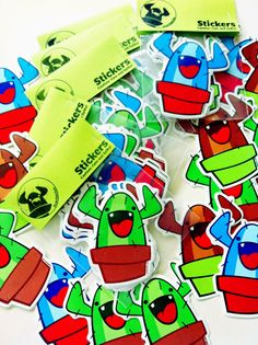 #cactusclan stickers. by Nick Knite, via Behance