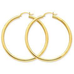 3 mm Light Tube Hoop Earrings https://www.goldinart.com/shop/14k-earrings/3-mm-light-tube-hoop-earrings #14KaratGold, #Earrings
