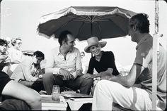 Catherine Deneuve et Michel Piccoli sur le tournage de La Chamade, Saint-Tropez, France