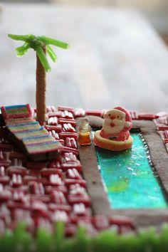 A Gingerbread Beach Bar