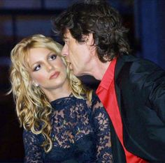 This photo of Britney Spears and Mick Jagger was taken at the 2001 MTV Video Music Awards. But her face is still applicable today.