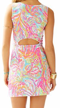 Lilly Pulitzer Whiting Cut-Out Shift Dress in Scuba to Cuba