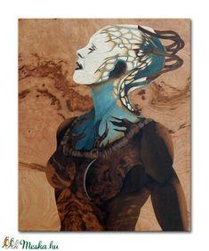 Borg királynő Star trek fa intarzia kép (Andulino) - Meska.hu Marquetry, Techno, Star Trek, Disney Characters, Fictional Characters, Disney Princess, Stars, Artwork, Painting