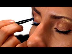 Learn how to apply Motives® Blue Eyeliner using creme  and paint pot eyeshadow