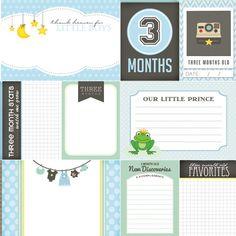 3 Months Old Journal Cards. Baby Boy Digital di ScrapbookCustoms1