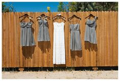 www.weddingrowcalifornia.com | Palm Springs Wedding | Grey Bridesmaid Dresses