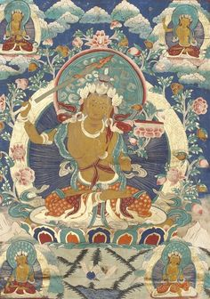 Thangka depicting Manjushri. Tibet, 19th Century.