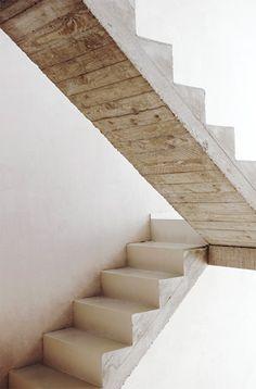 whitewash wood/stairs....
