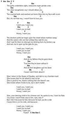 Bob Dylan - I Want You - Guitar Tab
