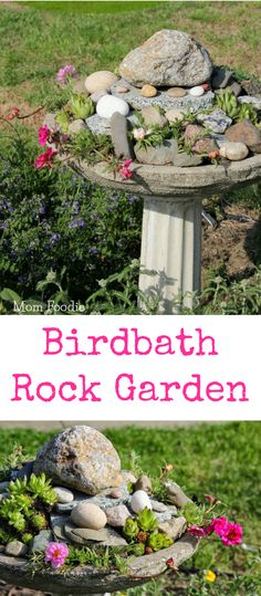 Birdbath Rock Garden feature