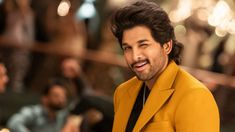 Alllu Arjun is undoubtedly one of Telugu cinema's most charismatic and stylish actors. He's also a fantastic dancer. Allu Arjun Images, Manoj Kumar, Box Office Collection, It Movie Cast, Very Happy Birthday, Movie Releases, Telugu Cinema, Significant Other, Telugu Movies