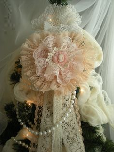 lace ornament, this would look good on a shabby or a Victorian tree