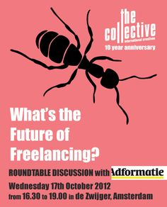 Join us in Amsterdam on 17th October to discuss the Future of Freelancing, for copywriters, art directors and designers
